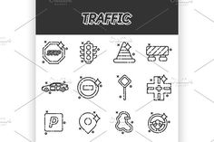 Traffic icons pattern. Business Infographic