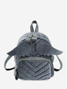[31% OFF] 2019 Winged Corduroy Front Pocket Mini Backpack In BATTLESHIP GRAY | DressLily Chic Backpack, Mini Backpack, Backpack Bags, Fashion Backpack, Cheap Backpacks, Backpack Reviews, Buy Bags, Designer Backpacks, Cartoon Styles