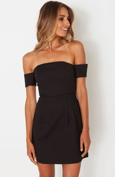 Bardot Mini Dress Black