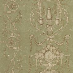 allen   roth�Green Peelable Vinyl Prepasted Classic Wallpaper