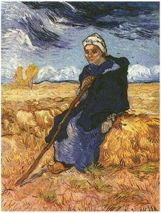 Shepherdess, The (after Millet) by Vincent Van Gogh   Painting, Oil on Canvas   Saint-Rémy: November, 1889