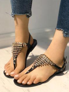 90ca5d9e98 Shop Bohemia Style Shining Toe Post Sandals – Discover sexy women fashion  at IVRose