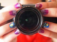 Van Gogh Starry Night nails photography  #nail art #photography