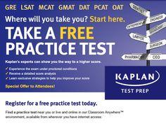 Take a a FREE practice test! (GRE, LSAT, MCAT, GMAT, DAT, PCAT, OAT)