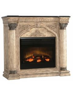 Arch Electric Fireplace - Fireplaces & Mantels - Living Room