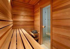 Steam Room & Sauna Combo Design Ideas, Pictures, Remodel and Decor Saunas, Sauna Design, Home Gym Design, House Design, Diy Sauna, Sauna Steam Room, Sauna Room, Home Spa, At Home Gym