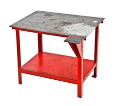 CertiFlat 48 FabBlock welding table Heavy load c. vintage American industrial angled four-legged steel shield factory welding table with vice holder welding projects ideas simple welding projectswelding projects ideas simple welding Welding Table Diy, Welding Cart, Welding Tools, Metal Welding, Diy Tools, Welding Ideas, Welding Flux, Homemade Tools, Industrial Table