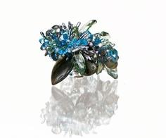 Labordorite, mystic topaz, london blue topaz, swiss blue topaz, green amethyst, keshi stick pearl and sterling silver