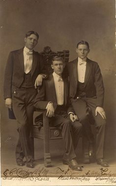 "vintagehandsomemen:  "" Early 20th century  """