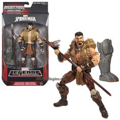 """Hasbro Year 2015 Marvel Legends Infinite Rhino Series 6"""" Tall Action Figure - Savage Force KRAVEN with Spear and Rhino's Right Leg"""