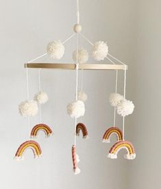 c-h-l-o-e-rainbow-macrame-pom-pom-mobile-nursery-hanging-decor-makkari-c-h-l/ delivers online tools that help you to stay in control of your personal information and protect your online privacy. Boho Nursery, Girl Nursery, Rainbow Nursery Decor, Baby Mobile, Mobile Mobile, Hanging Mobile, Nursery Inspiration, Nursery Ideas, Rainbow Baby