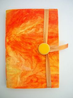 Small Journal Diary Notebook Yellow Orange by Newleafjournals,