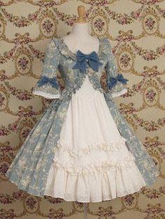 Mary Magdalene - Antoinette Dress (Fleur) in Antique Peacock Style Lolita, Mode Lolita, Gothic Lolita, Gothic Girls, Kawaii Fashion, Lolita Fashion, Emo Fashion, Gothic Fashion, Pretty Dresses