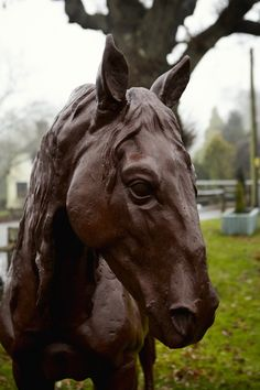 Beautiful Lifesized Cast Iron Horse Statue!