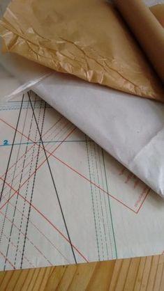 materialien schnittmuster backpapier folie