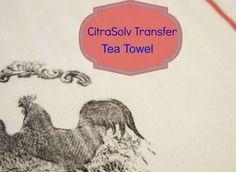 CitraSolv Transfer method on a tea towel - {ACultivatedNest.Com}