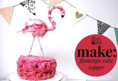 Free tutorial for flamingo cake topper