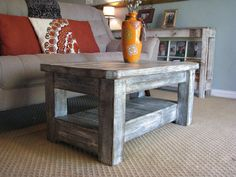 This beautiful coffee table has been made from reclaimed wood and measures 40L x 22W x 17.5H and has been stained, painted and and…
