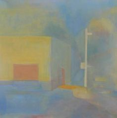 "Saatchi Art Artist Zsuzsa Kalas; Painting, ""Tobacco shop at the corner"" #art"