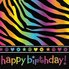 It doesn't get much more colorful and funky than these neon birthday beverage napkins! Only $2.99 from Parties2order, also available in lunch napkins!
