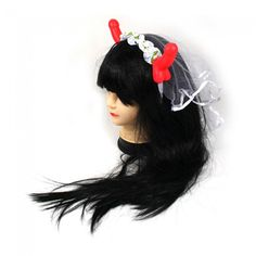 Get ready to party with this awesome fun Pecker Horn veil headband. Perfect for hens nights and hens parties, don't let the Bride to Be go out without wearing this sexy number! Hens Night, Bachelorette Parties, Bride Gifts, Horns, Veil, Great Gifts, Dress Up, Party, How To Make