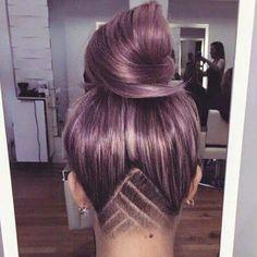 Stumbled across this hair pic, love it. #hairstyle #undercut #hairart #lilachair…