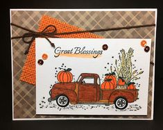 Hello again! It's my Growing in Unity  Day 2. Today I have a fall card to share. I used the Great Blessings stamp set .   This was a lot m...