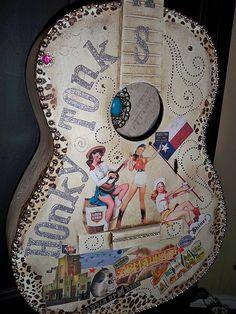 """Honky Tonk Vintage """"Cowgirl"""" Guitar"""