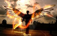 Angel With Flaming Sword Eden image gallery Dark Angels, Fallen Angels, Angels Among Us, Angels And Demons, Illuminati, Angel By The Wings, Flaming Sword, Angel Warrior, Angel Aesthetic