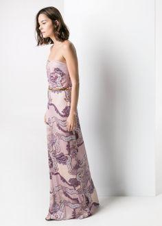 Paisley-print long dress