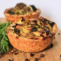 Mini Quiche mit Broccoli