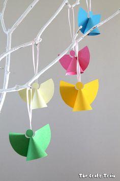 paper angel christmas craft