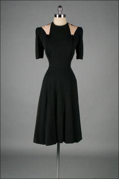 r e s e r v e d /// Vintage 1940s Dress . by millstreetvintage