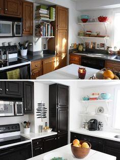 schwarze küchenfronten austauschen