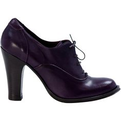 Aurora Purple Classic Lace Up Oxfords full-size I'm in love - gimme these beauties right now! Purple High Heels, Lace Up High Heels, Chunky High Heels, Purple Shoes, Thick Heels, Lace Up Shoes, Cute Shoes, Oxford Heels, Oxfords