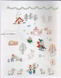 BushYou DIY Christmas Hand Diamond Embroidery Painting Kits Tool Cross Stitch Craft Home Decor Gift - Embroidery Design Guide Cute Embroidery, Japanese Embroidery, Embroidery Patterns Free, Crewel Embroidery, Embroidery Thread, Cross Stitch Embroidery, Sewing Patterns, Embroidery Supplies, Machine Embroidery Designs