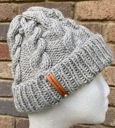 Excited to share this item from my #etsy shop: Grey knitted mens or ladies beanie, grey winter beanie, ladies cable beanie, grey cable knitted beanie, mens grey wool beanie Grey Beanie, Knit Beanie, Etsy Handmade, Cable Knit, Hand Knitting, Collaboration, Knitted Hats, Etsy Seller, Winter Hats