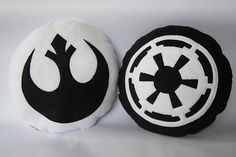 Star Wars Themed Cushions  Jedi and Sith Pair by Threadful on Etsy, £25.00