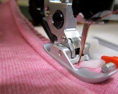 Jersey und Stretch mit der Nähmaschine verarbeiten