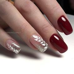 Bling Nails, Red Nails, Hair And Nails, Cute Nails, Pretty Nails, Square Gel Nails, Nagel Bling, How To Grow Nails, Manicure E Pedicure
