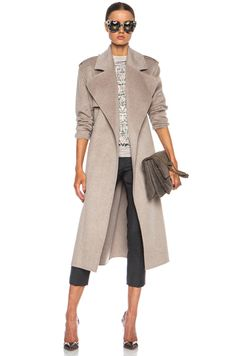 Joseph|Win Double Face Cashmere Coat in Beige Chine