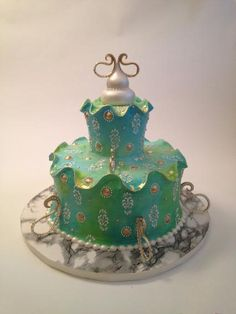Ruffle Some Feathers   Venetian looking cakes