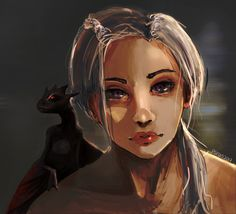 Daenerys Targaryen, Psinan Art on ArtStation at https://www.artstation.com/artwork/8g90G