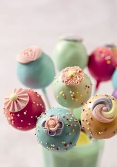 jewel colored cake pops