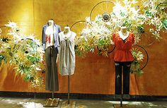 Our spring window's are blooming everywhere! Share your store's spring windows in our Anthropologie: Spring 2010 Store Window Group. Spring Window Display, Window Display Design, Shop Window Displays, Store Displays, Photo Displays, Display Windows, Display Photos, Water Bottle Flowers, Clothing Displays