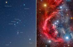 Chi ha detto che lo spazio è vuoto? Avete presente Orione, la grande costellazione che domina le notti invernali?  Chi sa riconoscerla non può non rimanere affascinato dalla sua forma singolare, disegnata da stelle che brillano talmente luminose sullo sfondo nero del cielo da incutere un senso di vertigine per il grande vuoto che sembra spalancarsi di fronte agli occhi dell'osservatore…  Continuate a leggere al link e non perdetevi questa spettacolare immagine di Matt Harbison!