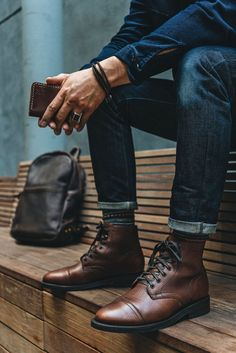 Pebbled Leather Delight - Men's style, accessories, mens fashion trends 2020 Mens Boots Fashion, Mens Fashion Suits, Men's Fashion, Fashion 1920s, Miami Fashion, Hipster Fashion, Fashion Clothes, Fashion Outfits, Stylish Men