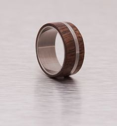 Rings Wood / Wood Wedding Band / Titanium Ring by aboutjewelry, $145.00
