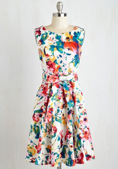 Hour by Flower A-Line Dress in Retro Blossom It's a little busy... but I think I like it!