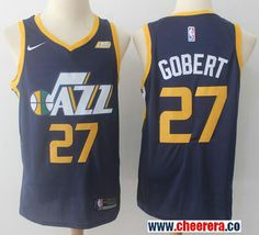 7b5f18c04 Men s Utah Jazz  27 Rudy Gobert Navy Blue 2017-2018 Nike Swingman Stitched  NBA Jersey